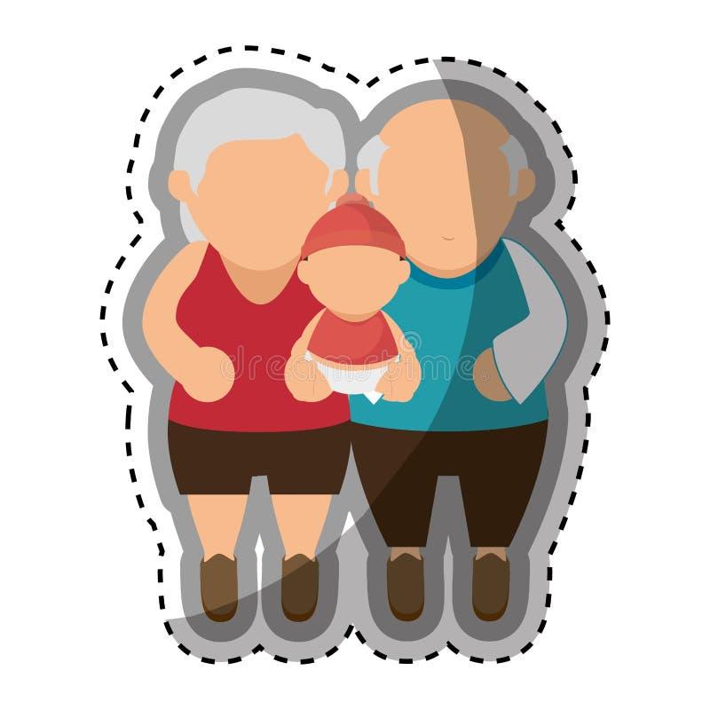 Download Membres De La Famille Heureux Avec Le Bébé Illustration de Vecteur - Illustration du membre, graphisme: 87704530