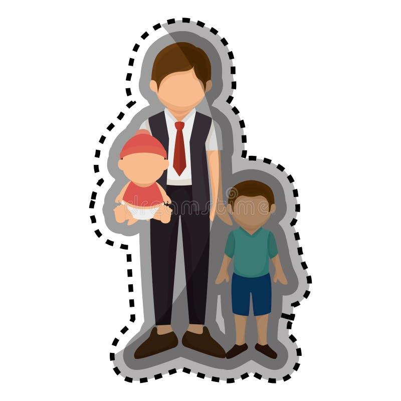 Download Membres De La Famille Heureux Avec Le Bébé Illustration de Vecteur - Illustration du vecteur, illustration: 87704716