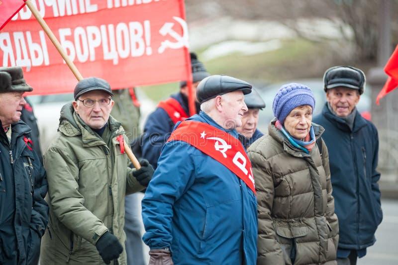 Membres de parti communiste sur se réunir Tyumen photographie stock libre de droits