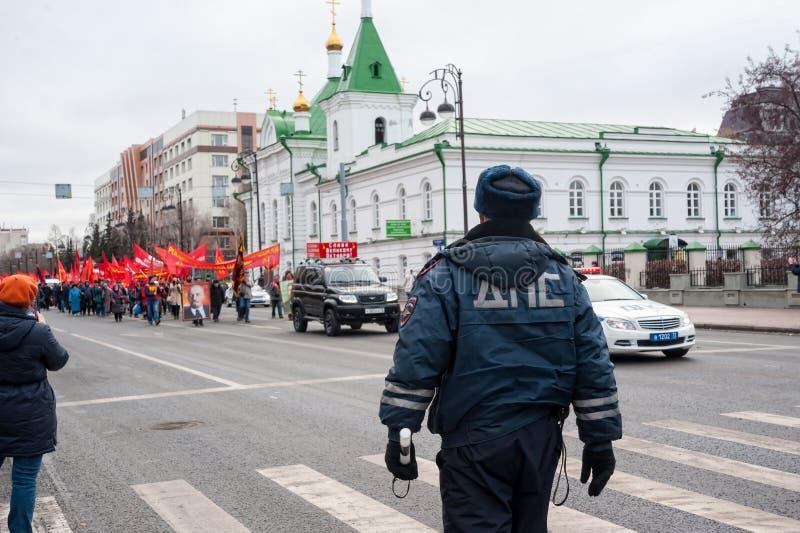 Membres de parti communiste sur se réunir Tyumen photos libres de droits