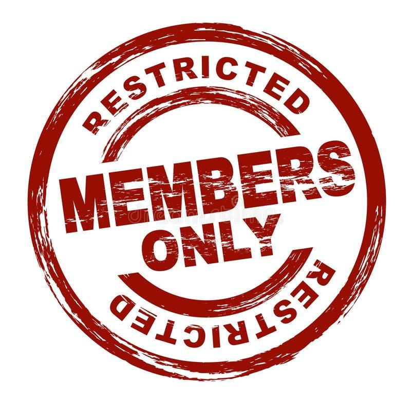 Membres seulement illustration stock