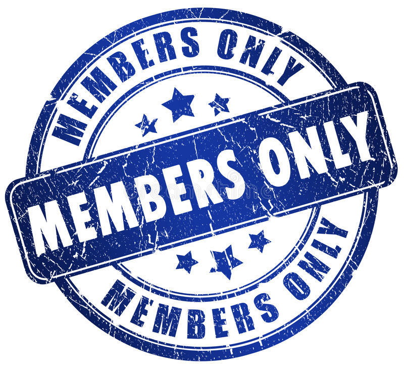 Membres seulement illustration de vecteur