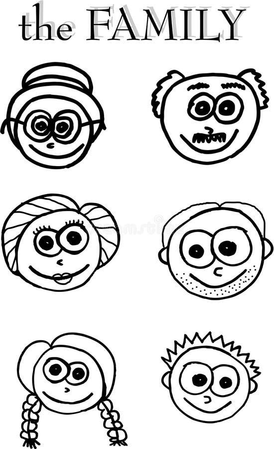 Membri di famiglia illustrazione vettoriale