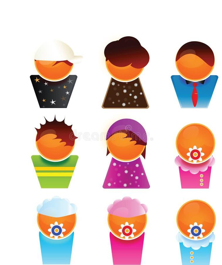Membri di famiglia royalty illustrazione gratis
