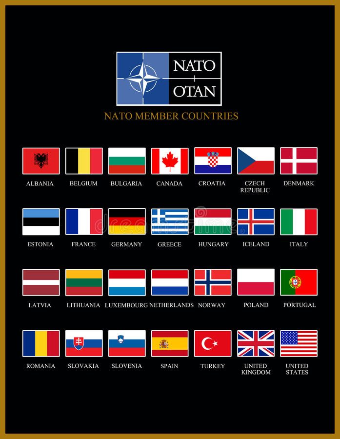 Membri di NATO illustrazione vettoriale