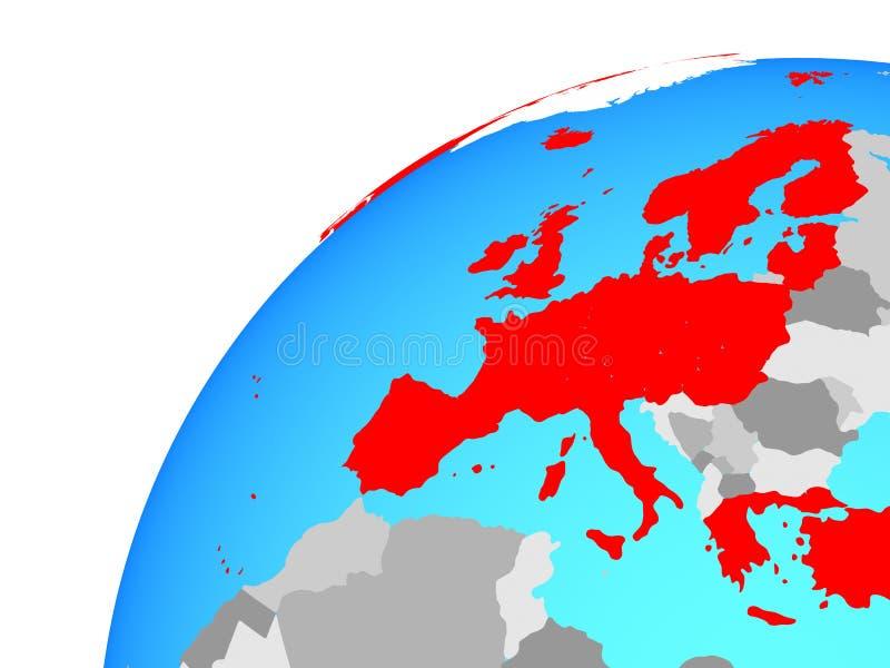 Membri europei dell'OCSE sul globo illustrazione vettoriale