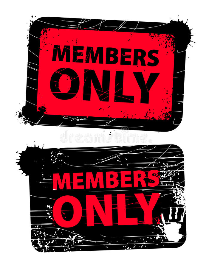 Membri soltanto royalty illustrazione gratis