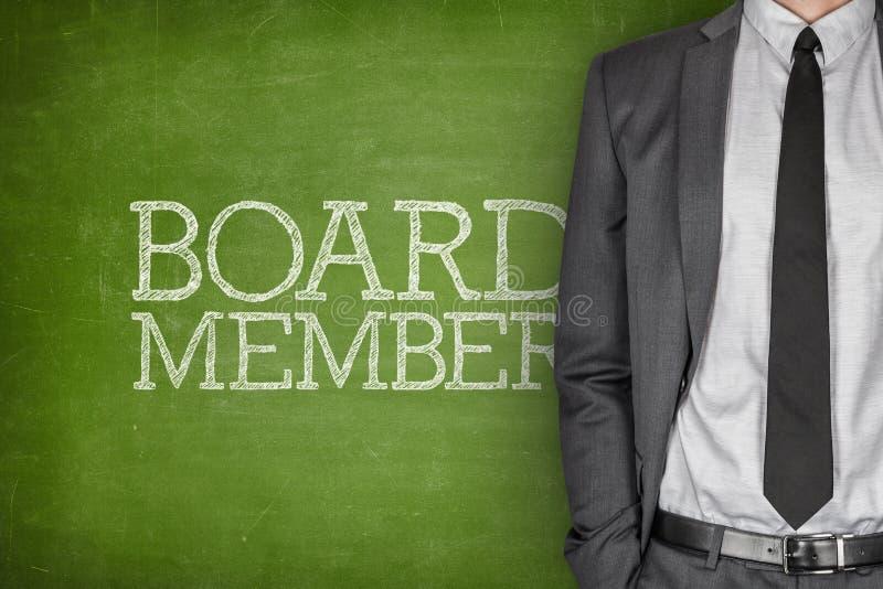 Membro da administração no quadro-negro imagem de stock royalty free