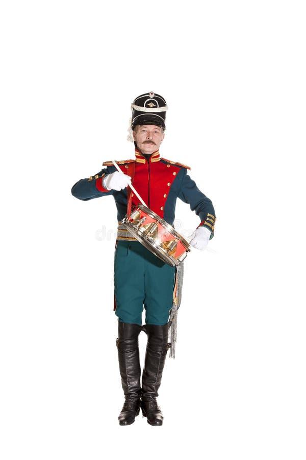 Membro della guardia con un XIX secolo della sciabola fotografia stock libera da diritti