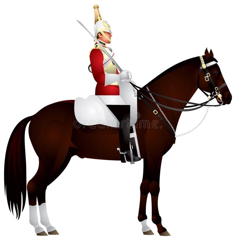 Membro della guardia del cavallo illustrazione di stock