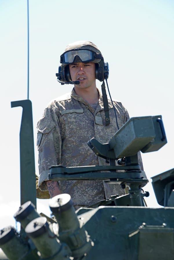 Membro della squadra del lavabo alla giornata porte aperte dell'esercito di NZ fotografia stock libera da diritti
