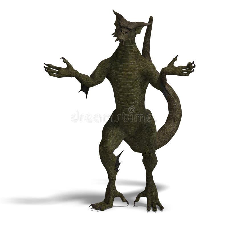 Membro delle gente del drago di fantasia illustrazione di stock