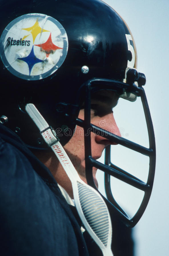 Membro do Hall of Fame dos Pittsburgh Steelers, Jack Lambert foto de stock royalty free