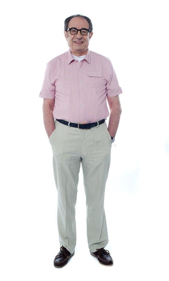 Membro sênior considerável de sorriso foto de stock royalty free