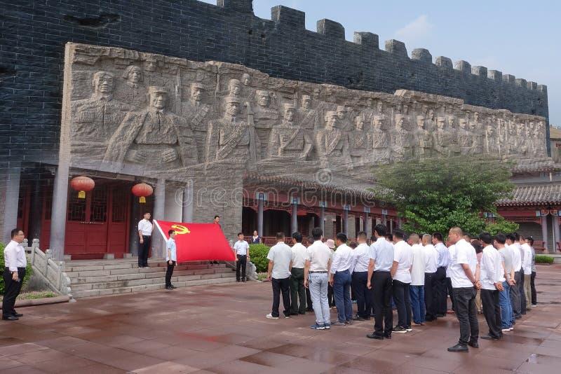 Membros de Partido Comunista Chinês sob o juramento imagens de stock