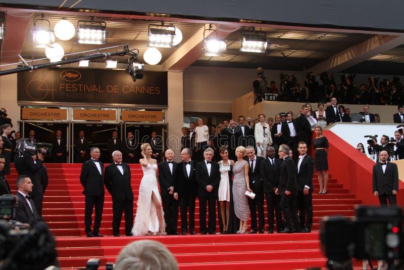 Membros do júri e Robert De Niro imagem de stock royalty free