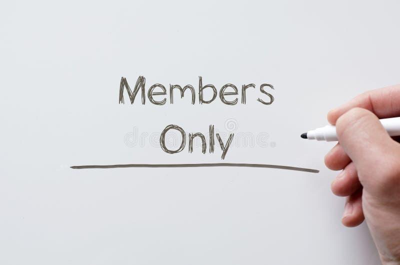 Membros escritos somente no whiteboard imagem de stock