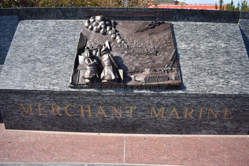 Membros memorial do serviço de mar, comerciante Marines imagem de stock