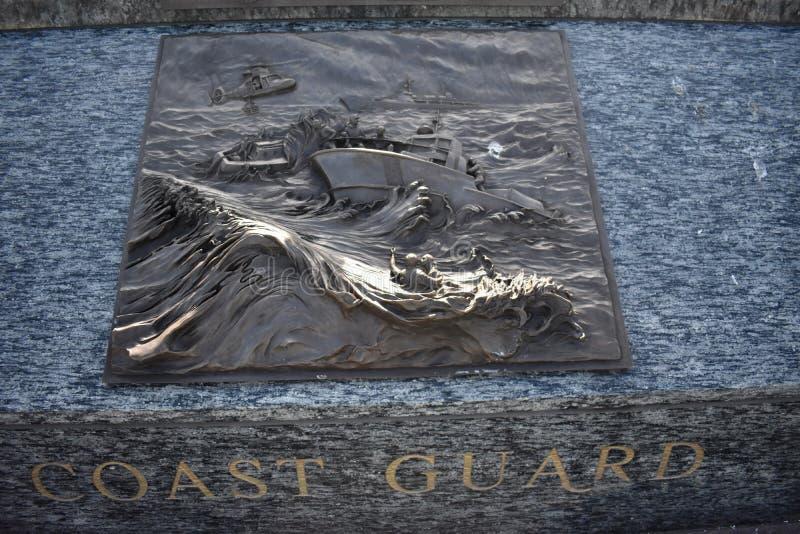Membros memorial do serviço de mar, guarda costeira fotografia de stock royalty free