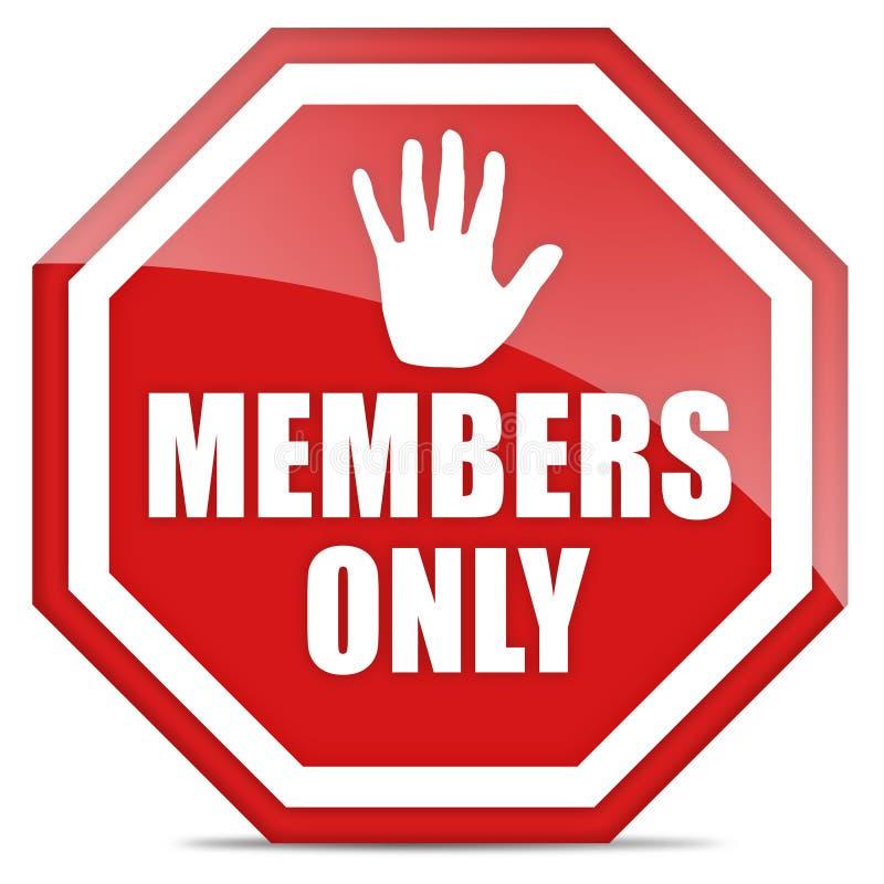 Membros somente ilustração royalty free