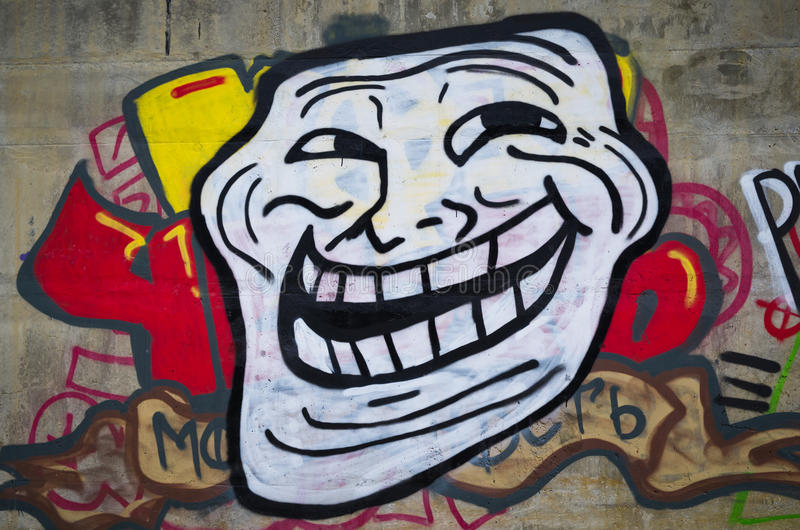 Meme Troll - graffiti images stock