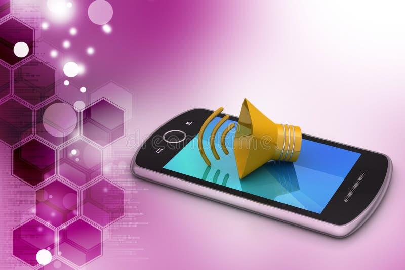 MeMegaphone met slimme telefoon vector illustratie
