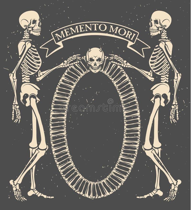 Memento mori ilustração royalty free