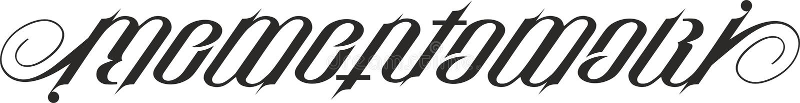 Memento mori ambigram ilustração stock
