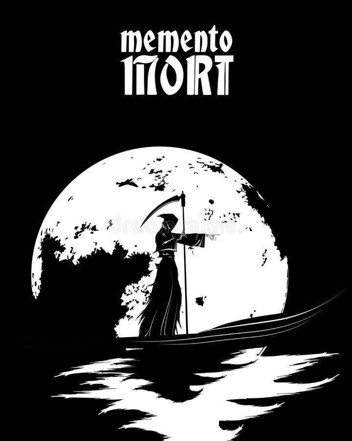 Memento mori E ilustração stock