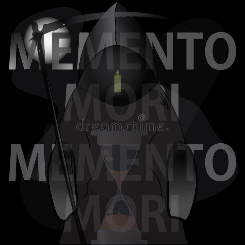 Memento mori ilustração ilustração stock