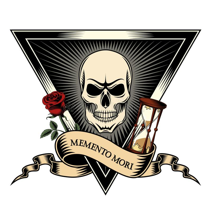 Memento mori - seja consciente da morte ilustração royalty free