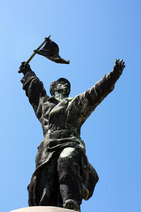 Memento Park - Communist Monument. Memento Park is place with statues from `soviet-era` from different places in Hungary. It is interesting place and history stock photo