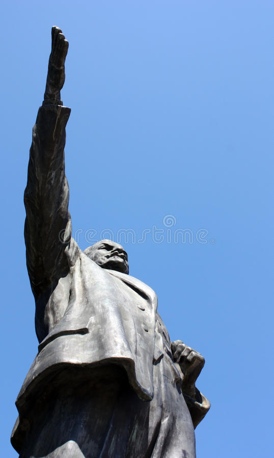 Memento Park - Lenin. Memento Park is place with statues from `soviet-era` from different places in Hungary. It is interesting place and history reminder in royalty free stock photography