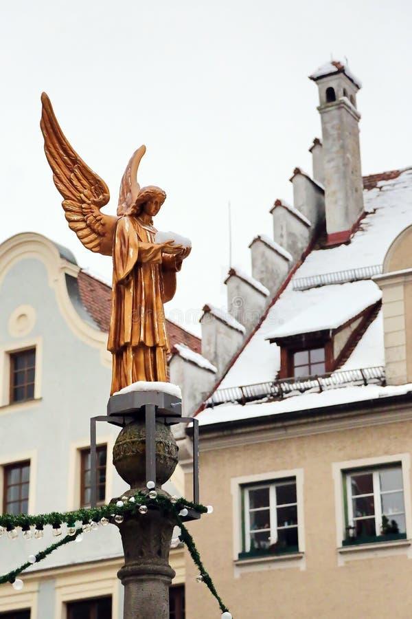 Memmingen è una città Baviera/Germania fotografia stock libera da diritti