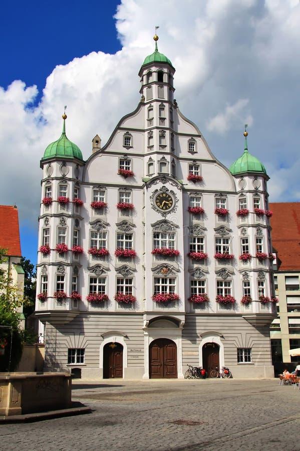 Memmingen è una città Baviera/Germania immagini stock