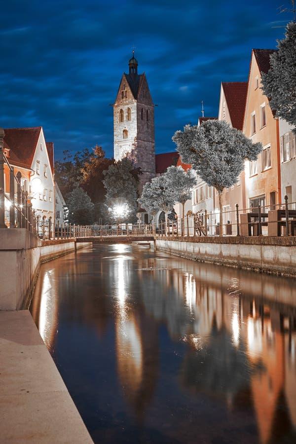 Memmingen in Duitsland stock afbeeldingen