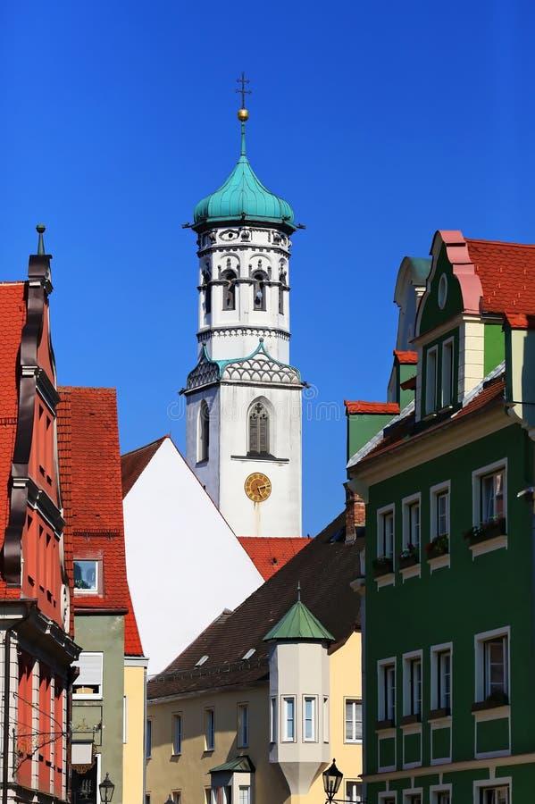 Memmingen es una ciudad en Baviera/Alemania fotos de archivo