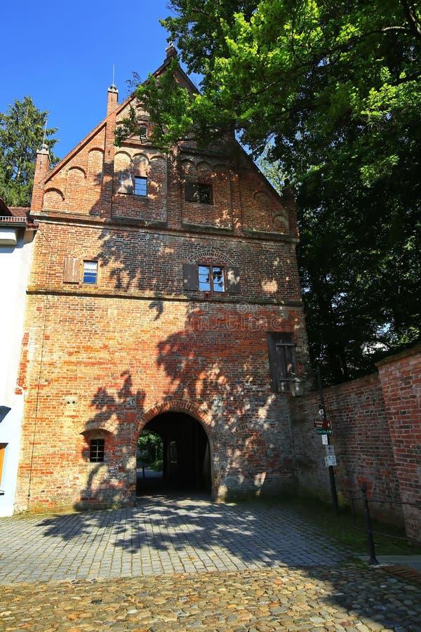 Memmingen es una ciudad en Baviera/Alemania imagen de archivo