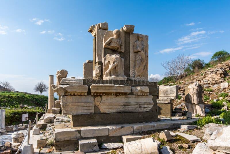 Memmius Monument, Ephesus stock images