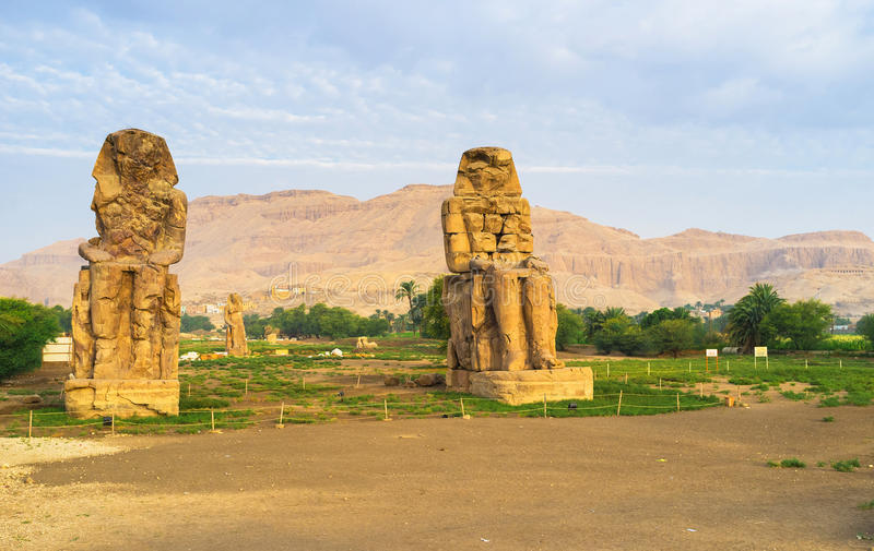 Memnon Colossi zdjęcie royalty free