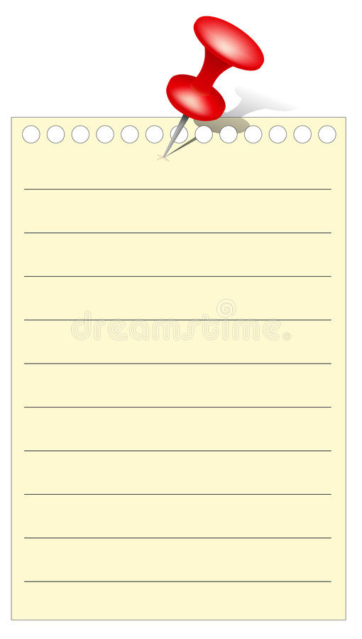 Download Memo stock vector. Image of list, administrative, page - 4702134