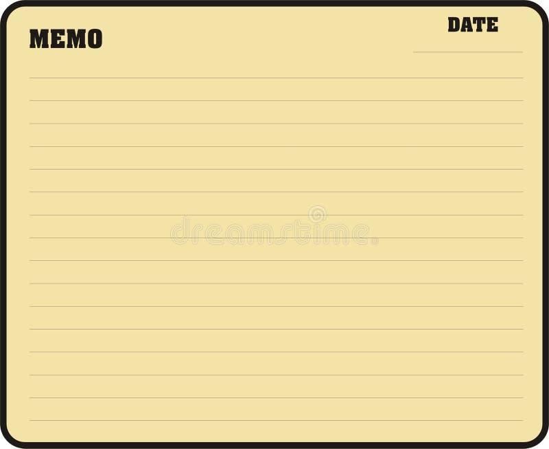 Download Memo stock illustration. Image of copy, book, memorandum - 982310