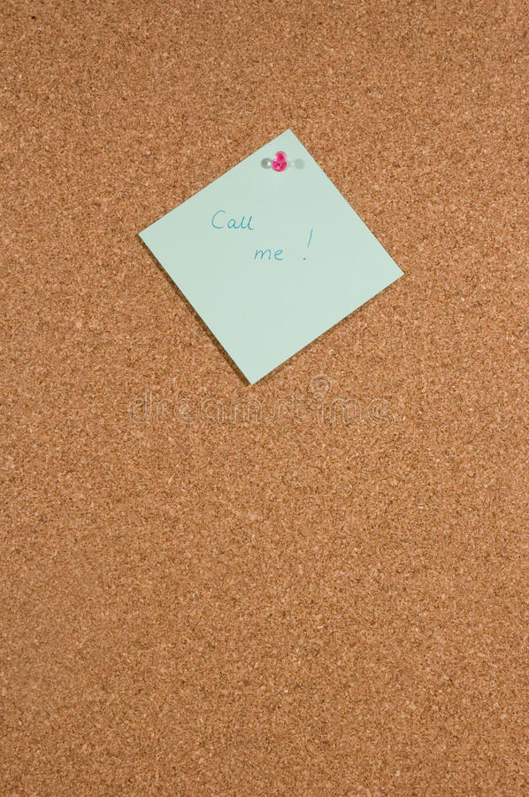 Download Memo Board With The Message Call Me Stock Photo - Image: 10732480