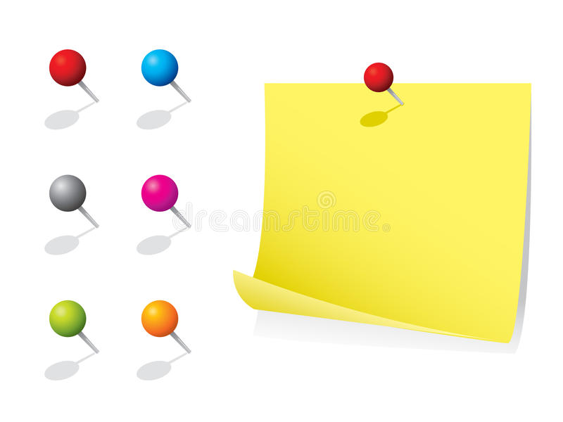 Download Memo Note With Pins Royalty Free Stock Photos - Image: 12799208