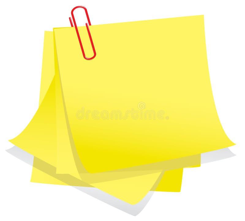 Download Memo notes with clip stock vector. Image of memo, copy - 9043244