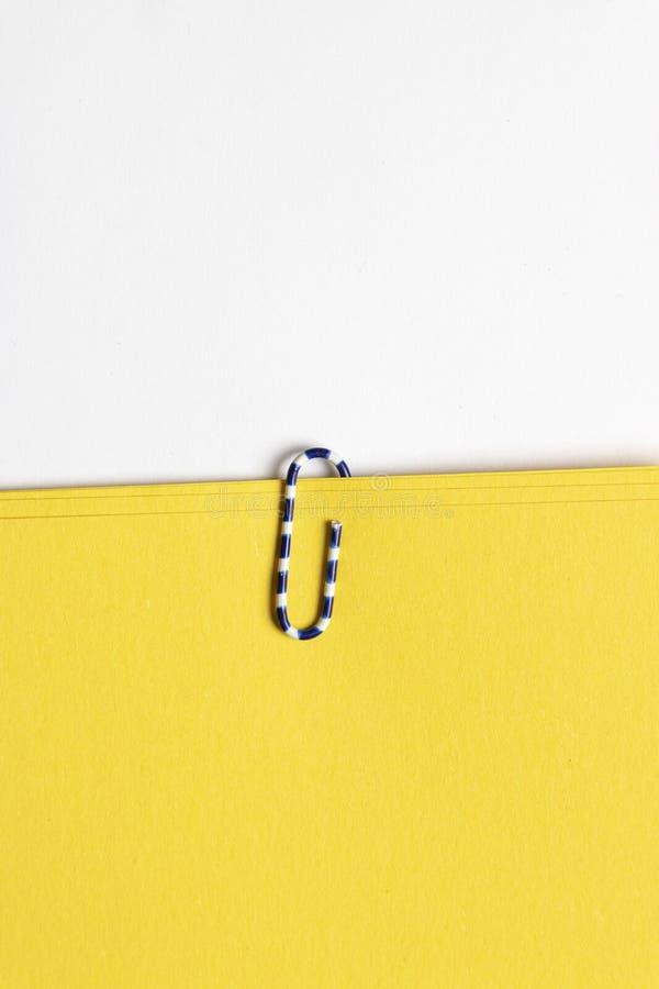 Memo notes with paper clip stock photos