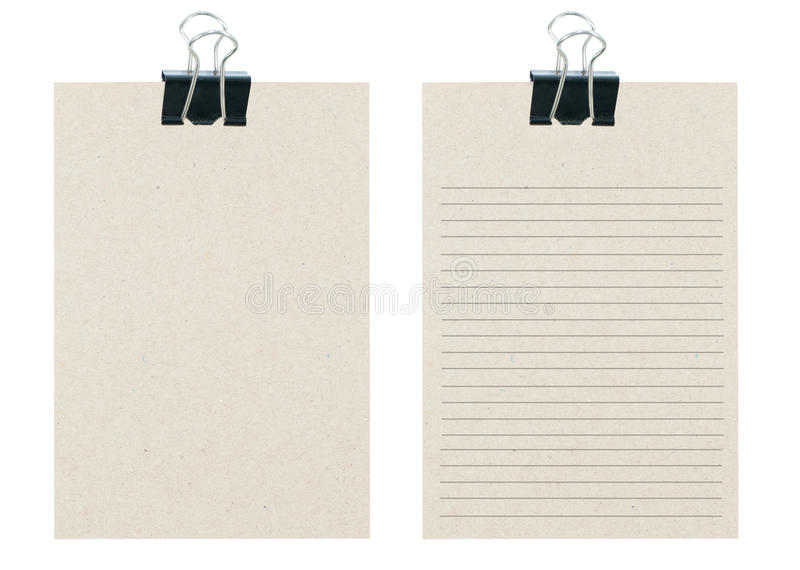 Download Memo Notes From Recycle Paper With Black Paper Cli Stock Photo - Image: 26834640