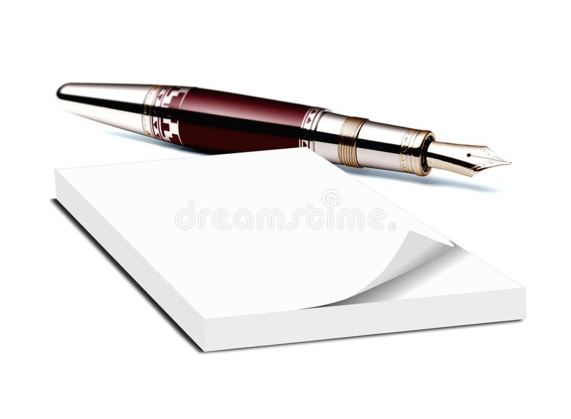Memo Pad And Pen Stock Image