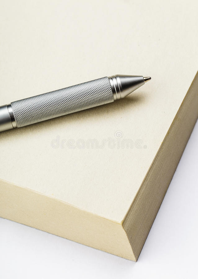 Memo pad and pen. Close up stock images