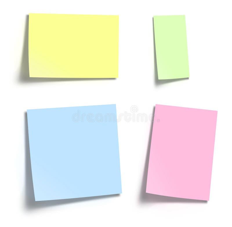Memo paper notes vector illustration